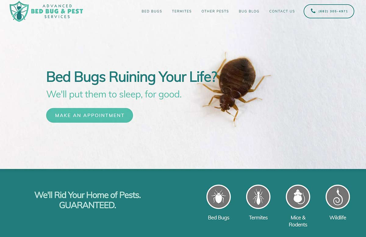 Exterminator Website Builder